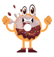 strong donut on white background vector image vector image