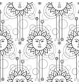 sun modern seamless pattern vector image vector image