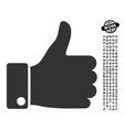 thumb up icon with people bonus vector image vector image