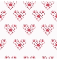 Trace a pet in the shape of a heart vector image vector image