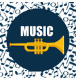 trumpet instrument musical icon vector image
