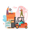 waste sorting concept for web banner vector image