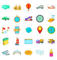 waybill icons set cartoon style vector image