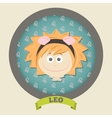 Zodiac signs collection Cute horoscope - LEO vector image vector image