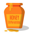 honey pot with dripping honey vector image