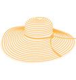 Summer hat vector image