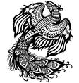 phoenix black white vector image