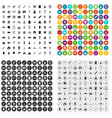100 museum icons set variant vector image