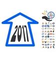 2017 Ahead Arrow Icon With 2017 Year Bonus