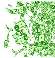 american dollar notes falling messy usd bills on vector image