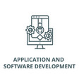 application and software develop line icon vector image vector image