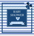 baby shower card for baby boy vector image vector image