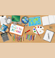 back to school background with education object vector image vector image