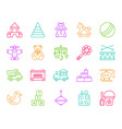 batoy simple color line icons set vector image vector image