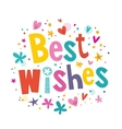 Best Wishes vector image vector image