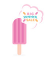 big summer sale banner vector image vector image