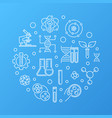 biotech or bio-engineering round outline vector image vector image