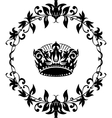 black crown icon isolated on white vector image