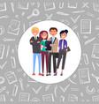 business friendly team teamwork people vector image