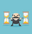 business who is experiencing time problems vector image vector image