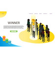 business winner landing page website vector image vector image