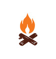 campfire logo for mountain camping adventure vector image vector image