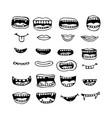 cartoon mouth icon vector image