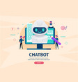 chatbot future concept vector image vector image