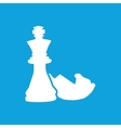 Chess icon 3 simple vector image