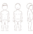 child body silhouette vector image vector image