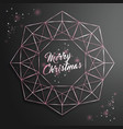 christmas background with christmas tree of cutout vector image vector image