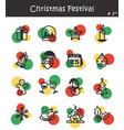 christmas festival icon set 3 vector image vector image