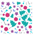 christmas new year memphis pattern with bells vector image vector image