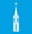 church icon white vector image vector image