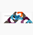 color square shapes geometric modern abstract vector image vector image