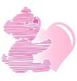 Cute Little Teddy Bear Holding Heart vector image vector image