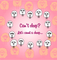 Cute sheeps postcard vector image