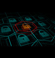 cyber attack system under threat ddos attack vector image