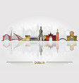 dublin city background vector image vector image