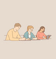 educational process learning classroom concept vector image
