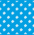 four leaf clover pattern seamless blue vector image