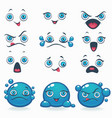 funny cartoon emotion for your own characters vector image vector image