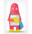 Funny Monster Postman vector image vector image