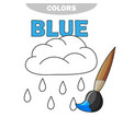 funny rain weather to be colored coloring book vector image