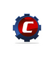 gear logo letter c vector image vector image