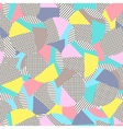 Geometric memphis backgroundRetro design for vector image vector image