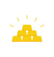 golden bars pyramid vector image