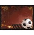 Grunge soccer background vector image