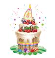 Happy Birthday cake 4 vector image vector image