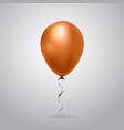 helium balloon with ribbon isolated on grey vector image vector image